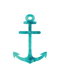 Watercolor Aqua Anchor Posters by  Jetty Printables