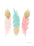 Feathers Prints by Penny Jane