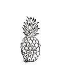 Black Pineapple Posters av  Jetty Printables