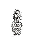 Black Pineapple Prints by  Jetty Printables