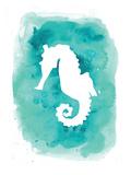 Watercolor Aqua B Seahorse Plakater av  Jetty Printables