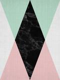 LILA X LOLA - Geometric Pink Mint Umělecké plakáty