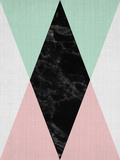 Geometric Pink Mint Prints by  LILA X LOLA