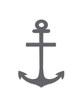 Gray Anchor Prints by  Jetty Printables
