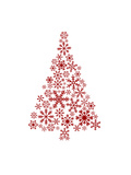 Red Snowflake Tree Prints by  Jetty Printables