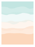 Mint Peach Abstract Poster af  Jetty Printables