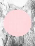 【北欧】幾何学模様(ピンク) ポスター : リラ・アンド・ロラ