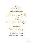 Proverbs 31 25 Kunst af Penny Jane