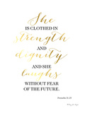 Proverbs 31 25 Art by Penny Jane