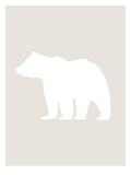 Beige White Bear Posters av  Jetty Printables