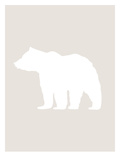 Beige White Bear Prints by  Jetty Printables