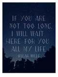 Quote Oscar Wilde Posters by  Dash of Summer