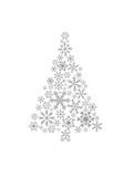 Gray Snowflake Tree Prints by  Jetty Printables