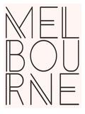 Melbourne Pink Brown Plakat af Dash of Summer