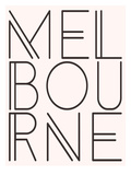 Melbourne Pink Brown Prints by  Dash of Summer