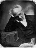 Portrait of Arthur Schopenhauer, German Philosopher Art sur métal