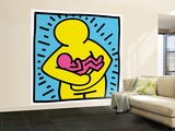 Pop Shop (Mother and Baby) Wall Mural – Large by Keith Haring