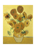 Vase of Fifteen Sunflowers, c.1888 Metal Print by Vincent van Gogh