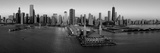 Sunrise at Navy Pier, Lake Michigan, Chicago, Cook County, Illinois, USA Photographic Print by  Panoramic Images