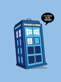 Bigger on the Inside - Cute Tardis Print by  Boots