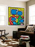 Untitled Pop Art Reproduction murale par Keith Haring