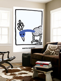 Untitled Pop Art Wall Mural by Keith Haring