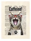 Cat Caffeine Print by Matt Dinniman