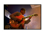 Guitarist Mark Whitfield Playing Large Guitar at MK's Metal Print by Ted Thai
