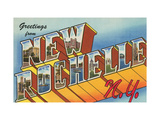 Greetings from New Rochelle, New York Metal Print
