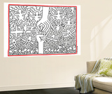 The Marriage of Heaven and Hell, 1984 Premium Wall Mural by Keith Haring