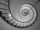 La Paloma, Atlantic Ocean Resort Town, Cabo Santa Maria Lighthouse, Interior Stairs, Uruguay Photographic Print by Walter Bibikow