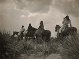Before the Storm, Apache Metal Print by Edward S. Curtis