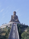 Statue of the Buddha, the Largest in Asia, Po Lin Monastery, Lantau Island, Hong Kong, China, Asia Metal Print by Adina Tovy