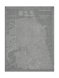 City Map of San Francisco Metal Print by  Vision Studio