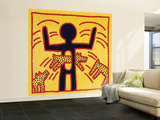 Haring - Untitled October 1982 Private Collection Wall Mural – Large by Keith Haring