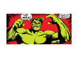 Marvel Comics Retro: The Incredible Hulk Comic Panel Metal Print