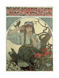 Poster Advertising the Moravian Teachers' Choir, 1911 Metal Print by Alphonse Mucha