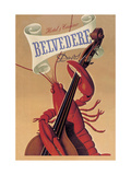 Lobster Musician at the Belvedere Hotel and Casino Metal Print