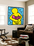 Pop Shop (Mother and Baby) Wall Mural by Keith Haring