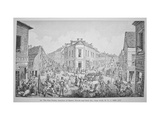 The Five Points, Junction of Baxter, Worth and Park Streets, New York, C.1829 Metal Print by George Catlin