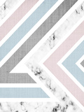 Geometric Pink Blue Prints by  LILA X LOLA