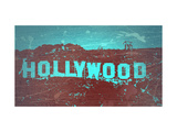 Hollywood Sign Metal Print by  NaxArt