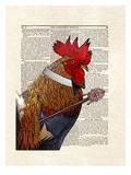 Rooster Gentleman Prints by Matt Dinniman