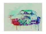 Porsche 911 Watercolor 2 Kunst op metaal van  NaxArt