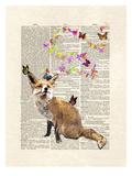 Fox Butterflies Posters by Matt Dinniman