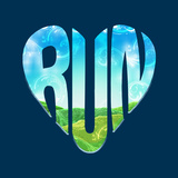 Run - Running Typography Posters af Boots