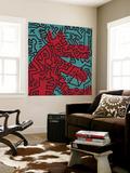 Untitled Pop Art Vægplakat af Keith Haring