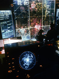 American Air Force Specialists Directing Missions from Command Center at Tan Son Nhut Airport Metal Print by Larry Burrows