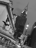 New York City, Manhattan, Grand Central Station and the Chrysler Building Illuminated at Dusk, USA Photographic Print by Gavin Hellier