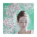 Portrait of a Girl Blossoming, 2015 Giclee Print by Helen White